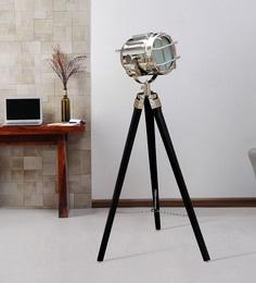 Silver Metal Floor Tripod Lamp - 1711237