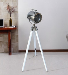 Silver Metal Floor Tripod Lamp - 1711233