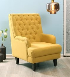 Simon Wing Chair in Mustard Yellow ... & Accent Chairs: Buy Accent Chairs Online in India at Best Prices ...