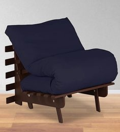 Single Futon With Mattress In Dark Blue Colour
