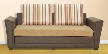 Siena Three Seater Sofa Cum Bed In Camel Colour