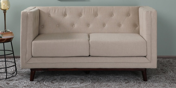 Silvana 2 Seater Sofa In Beige Colour By Casacraft
