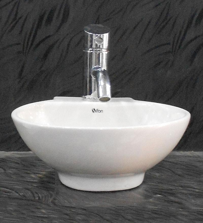 Sifon Nano White Ceramic Wash Basin