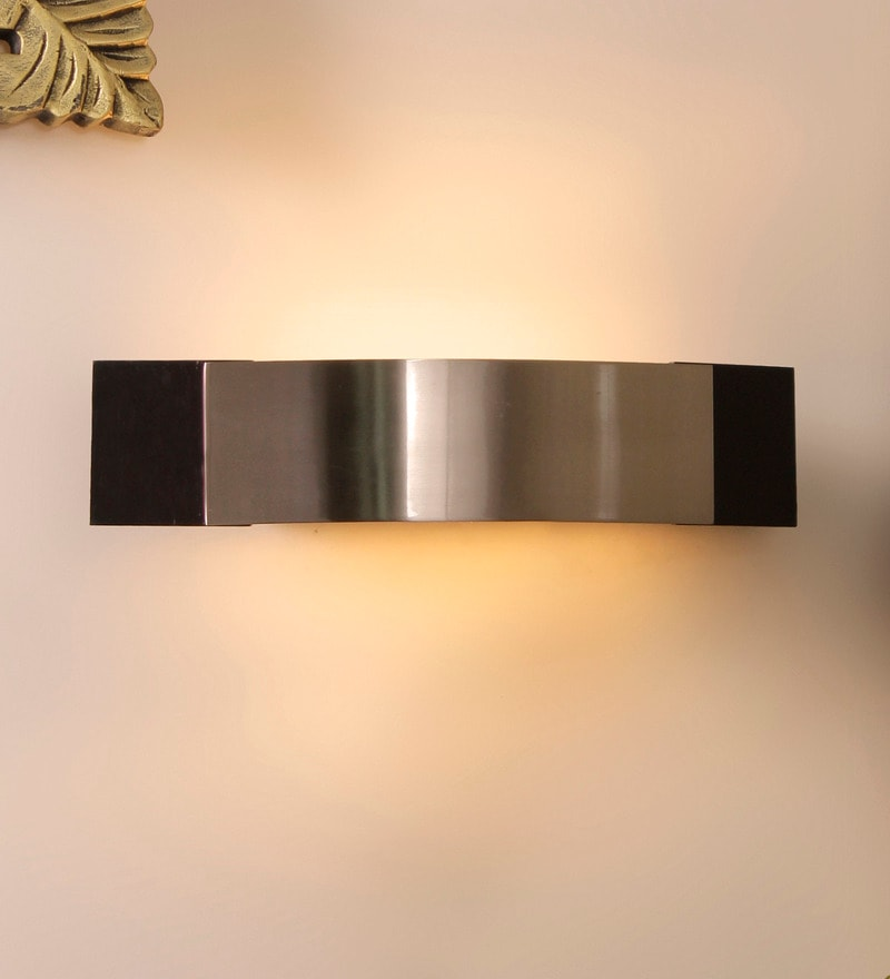 Silver Aluminium Wall Mounted Light by Jainsons Emporio