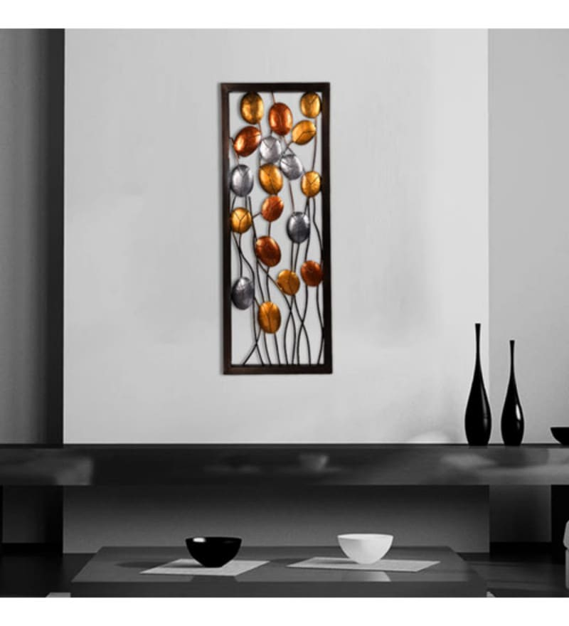 Silver and Copper Wrought Iron New Mica Wall Hangings by Malhar