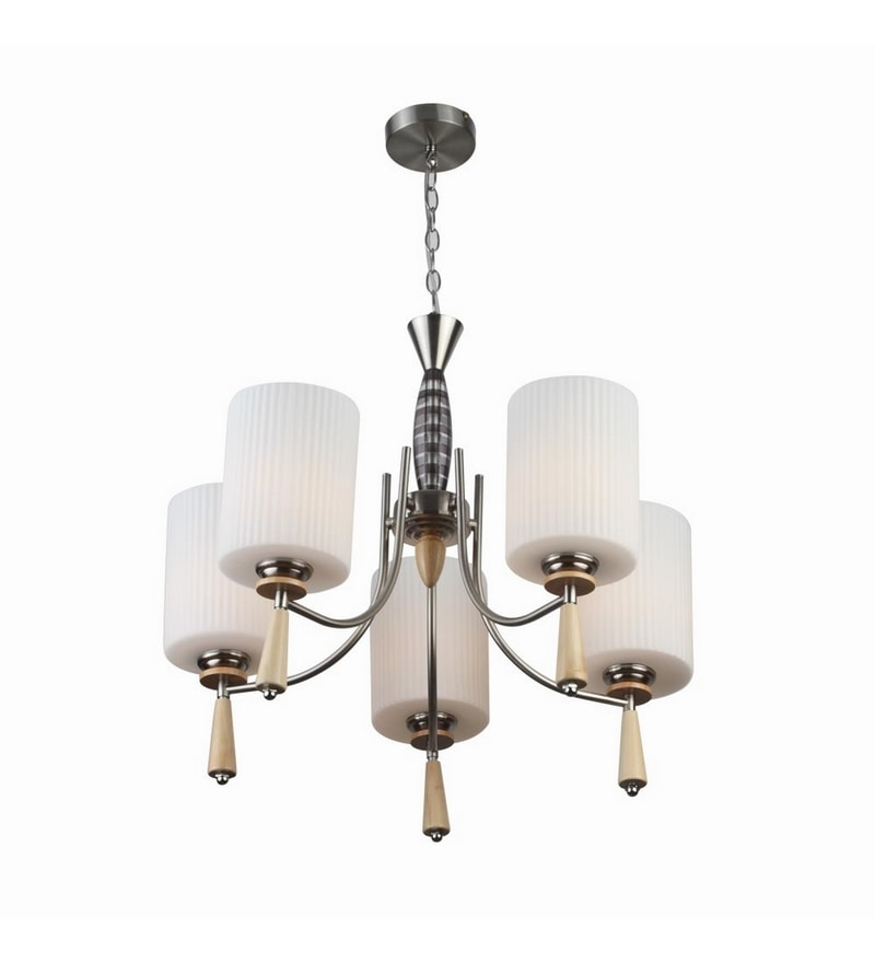 Silver Mild Steel Chandeliers by LeArc Designer Lighting