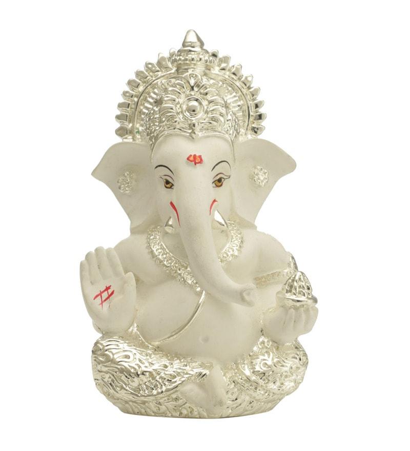 Buy Silver Plated Ganesha For Car Dashboard Idol By Craftvatika