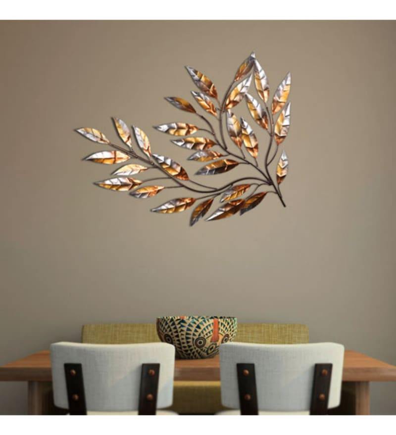 Silver Wrought Iron New Labii Decor Wall Hangings by Malhar