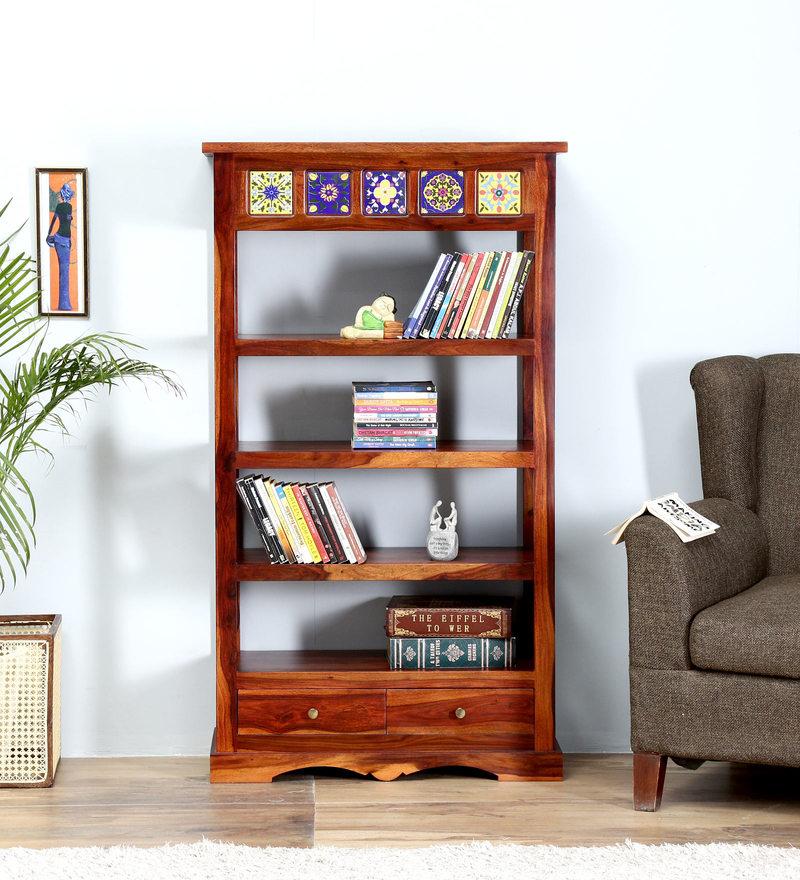 Siramika Book Shelf in Honey Oak Finish by Mudramark