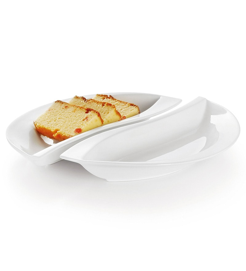 Sivica Durable Porcelain 250 ML Snack Serving bowl - Set of 2