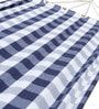 Single  Layer Fabric Hammock Single with Blue Cheques by Slack Jack