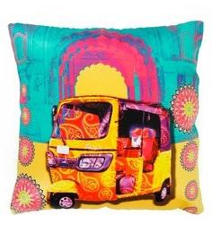 Skipper Multicolour Polyester 16 X 16 Inch Auto Digital Printed Cushion Cover