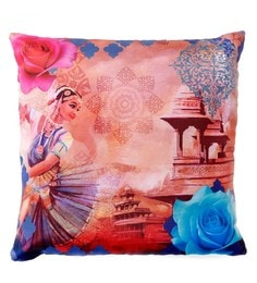 Skipper Multicolour Polyester 16 X 16 Inch Kathak Digital Printed Cushion Cover