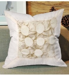 Skipper White Polyester 16 X 16 Inch Fluffy Surface Play Cushion Cover - 1594752