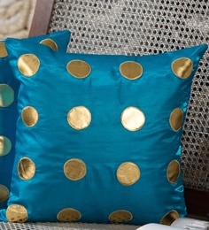 Sky Blue Silk 16 X 16 Inch Cushion Cover