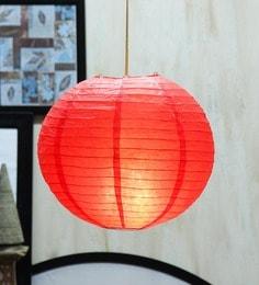 Round Red Paper Diwali Lantern