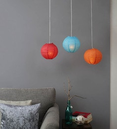 Multicolour Pack Of 3 Paper Lantern