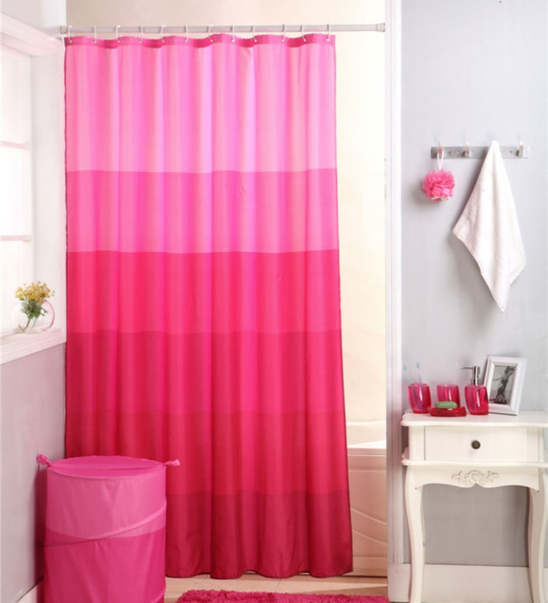 Pink Pvc 70 x 78 Shower Curtain by Skipper