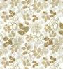 Skipper Beige Polyester & Cotton Floral Window Curtain - Set of 2