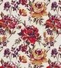 Skipper Purple Polyester & Viscose Leafy Flower Design Window Curtain - Set of 2