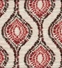 Skipper Red Viscose & Polyester Abstract Window Curtain - Set of 2