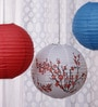 Multicolour Paper Lantern - Set of 3 by Skycandle