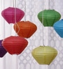 Multicolour Diamond Paper Lantern - Set of 7 by Skycandle