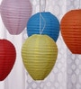 Multicolour Paper Lantern - Set of 5 by Skycandle