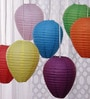 Multicolour Paper Lantern - Set of 7 by Skycandle