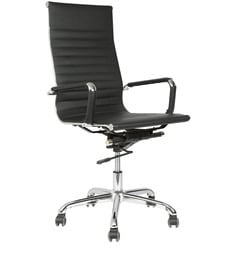 Sleek Design Executive High Back Chair in Black Colour by Star India at pepperfry