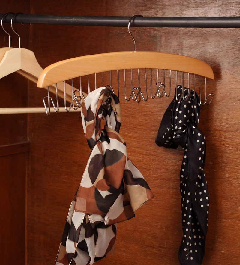 Wooden Brown Belt Hanger by Sleek