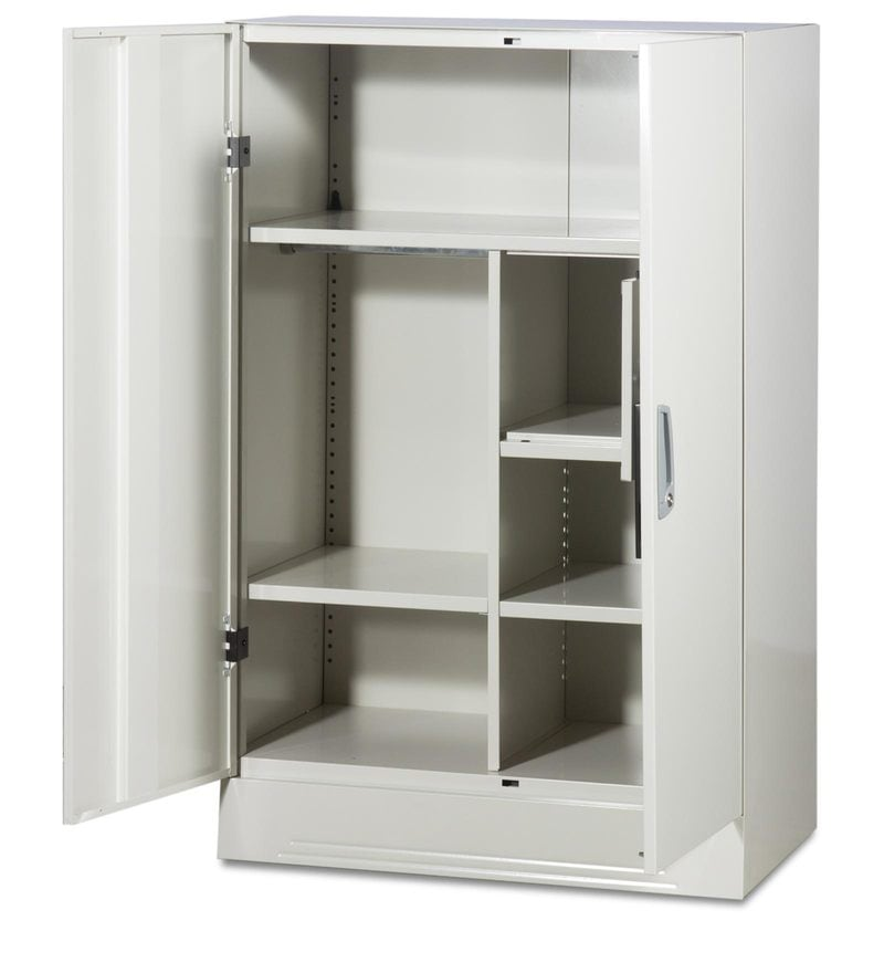 Buy Slimline Two Door Wardrobe With Locker In Royal Ivory