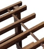 Slated Shoe Rack with Two Shelves Warm Rich Finish by Inliving
