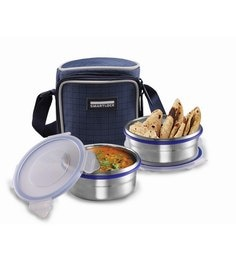 Smart Lock Classic Airtight Tiffin Pack Stainless Steel Lunch  Box - Set Of 2