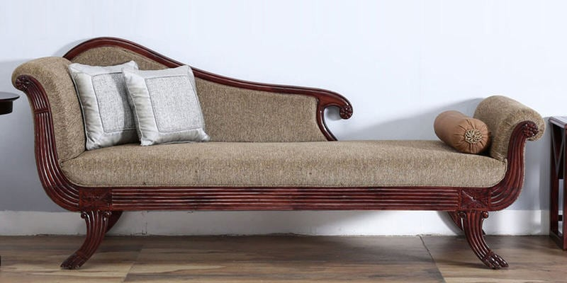 Smythe Divan in Rose Wood Finish by Amberville