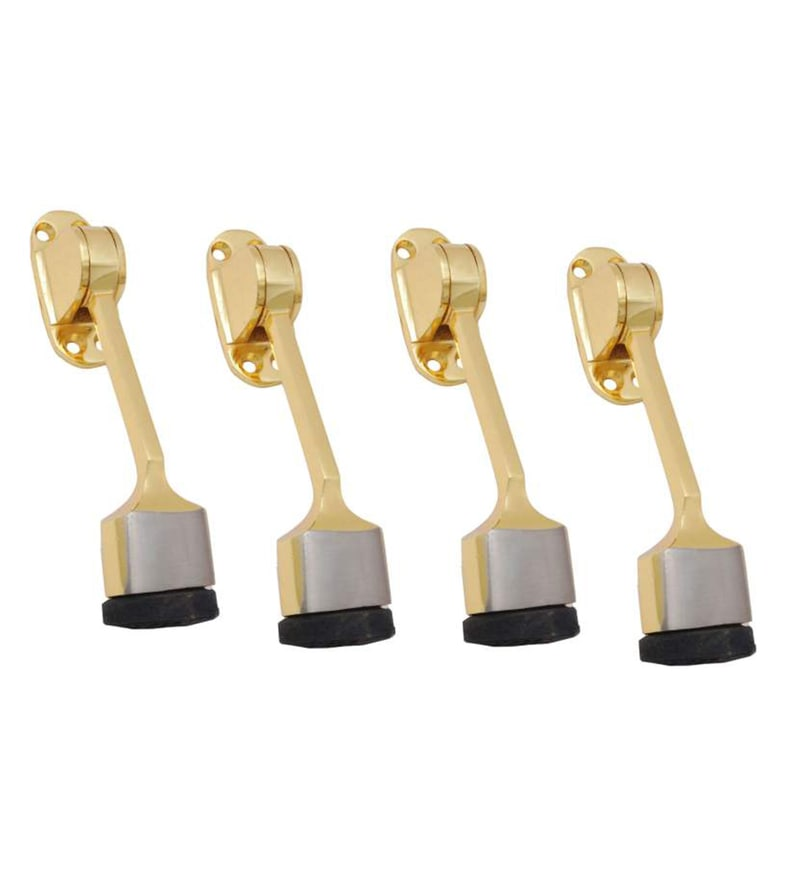 Smartshophar Brass Door Stoppers - Set of 4