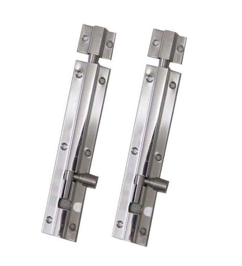 SmartShophar Plain Tower Bolt 2 Pcs Stainless Steel 10 Inches Silver