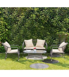 Snail Outdoor Sofa Set In Brown Color