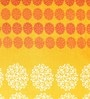 Snuggles Orange Cotton Queen Size Bed Sheet - Set of 3
