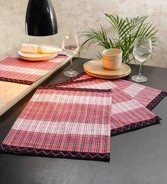 Solaj Multicolour Cotton Table Placemats - Set Of 4