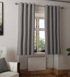 Solid Colour Cotton Window Curtain