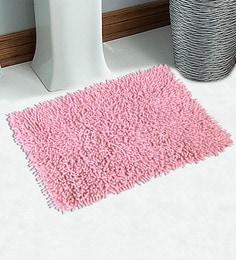 Solid Pattern Pink 24 X 16 Inch Microfiber Anti Slip Bathmat