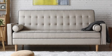 Soul Three Seater Sofa Cum Bed In Grey Colour