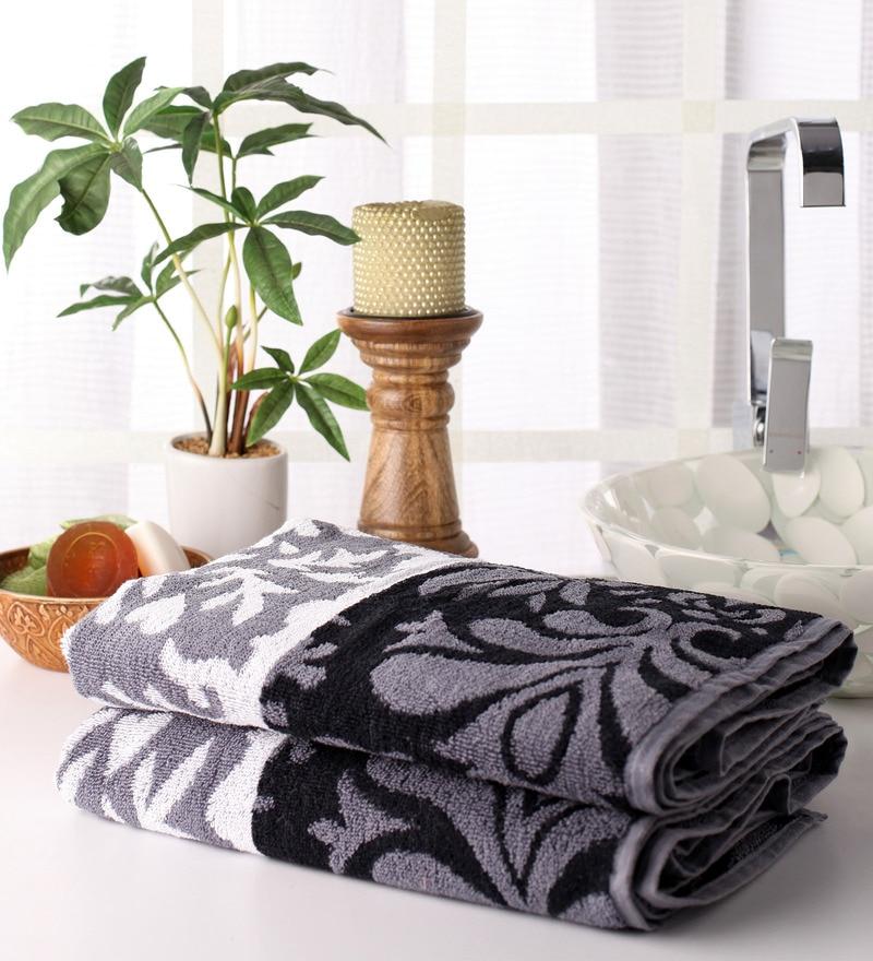 Grey Cotton 28 x 55 Bath Towel - Set of 2 by Softweave