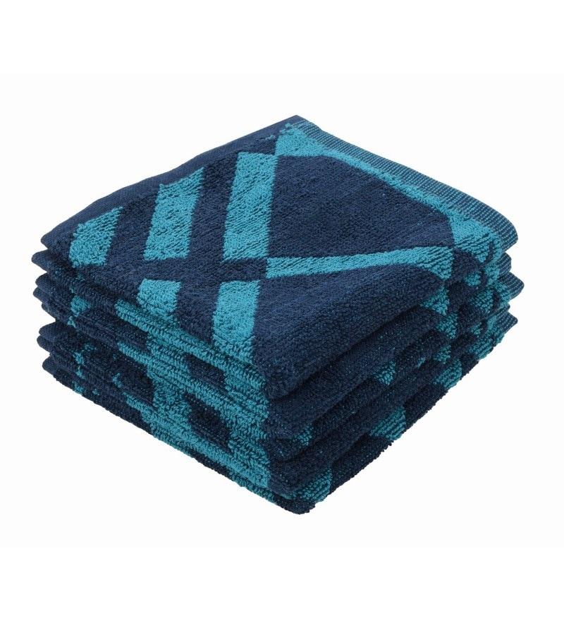 Multicolour 100% Cotton 12 X12 Face Towel - Set of 5 by Softweave