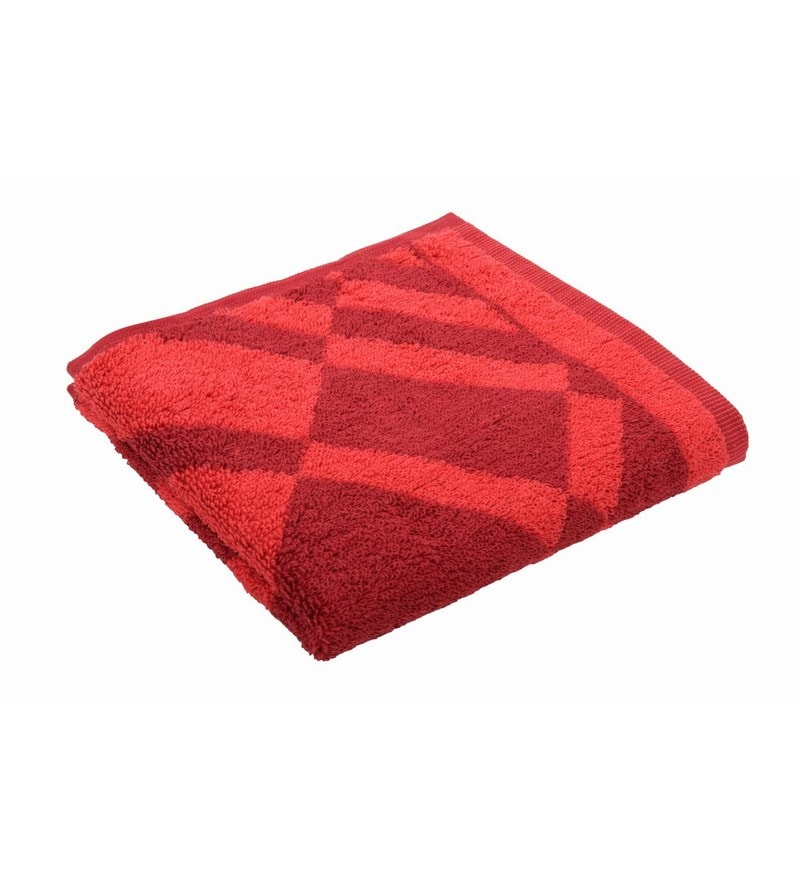 Red 100% Cotton 16 X 24 Hand Towel by Softweave
