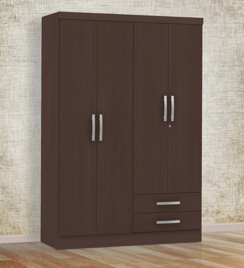 Kimura Four Door Wardrobe in Tobacco Finish by Mintwud