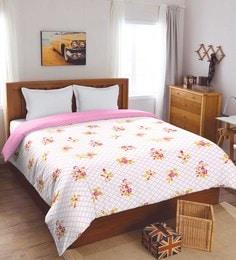 Spaces Pink 100% Cotton 82 X 96 Inch Spaces Dohar Double Dohar