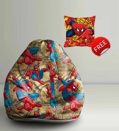 Spiderman Comics Digital Printed Bean Bag XXL Filled With Beans - 1590158