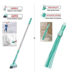 Spotzero Bathroom Kharata & Cleaning Brush - Set Of 2
